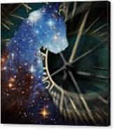 The Astronomer's Cat Canvas Print