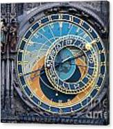 The Astronomical Clock In Prague Canvas Print