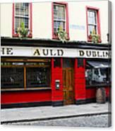 The Auld Dubliner  Canvas Print