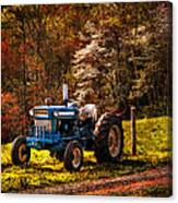 The Autumn Blues Canvas Print
