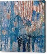 The Avenue In The Rain Canvas Print