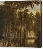 The Avenue Of Birches Canvas Print