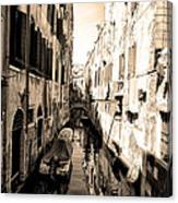 The Back Canals Of Venice Canvas Print