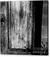 The Back Door Bw Canvas Print