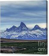 The Back Side Of The Tetons Canvas Print