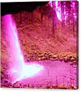 The Backside Of Little Pony Falls  Canvas Print