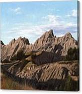 The Badlands In South Dakota Oil Painting Canvas Print