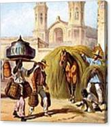 The Baker And The Straw Seller, 1840 Canvas Print