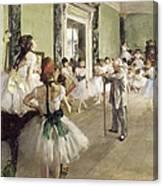 The Ballet Class Canvas Print