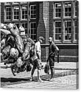 The Balloon Seller Mono Canvas Print