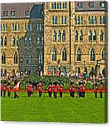 The Band Played On In Front Of Parliament Building In Ottawa-on Canvas Print