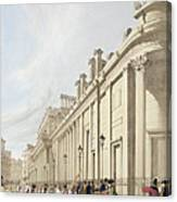 The Bank Of England Looking Towards Canvas Print