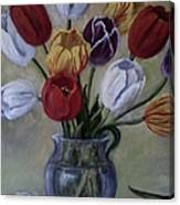 The Banker's Tulips Canvas Print