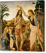 The Baptism Of Christ By John The Baptist Canvas Print