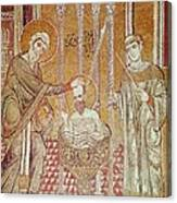 The Baptism Of St. Paul By Ananias, From Scenes From The Life Of St. Paul Mosaic Canvas Print