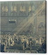 The Baptism Of The King Of Rome 1811-32 At Notre-dame, 10th June 1811, After 1811 Engraving Canvas Print