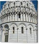 The Baptistery In Pisa  Canvas Print