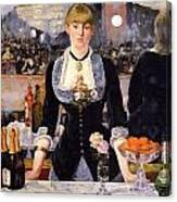 The Bar At The Folies-bergere Canvas Print