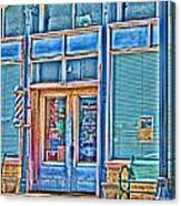 The Barbershop Hdr Canvas Print
