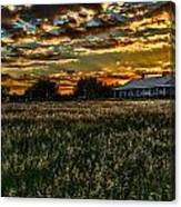 The Barn At Sunset Canvas Print