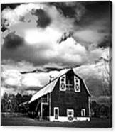 The Barn Before The Storm Canvas Print