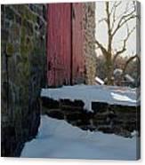 The Barn Doors Canvas Print