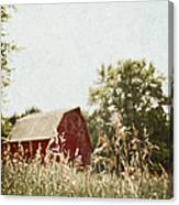 The Barn In The Distance Canvas Print