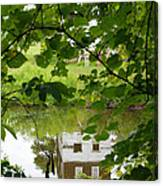The Barn In The Water Canvas Print