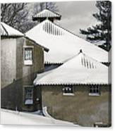 The Barns At Castle Hill After The Snow Canvas Print