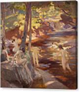 The Bathing Pool Canvas Print