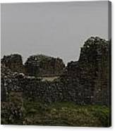 The Battered Remains Of The Urquhart Castle In Scotland Canvas Print