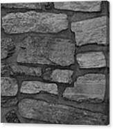The Battery Wall In Black And White Canvas Print