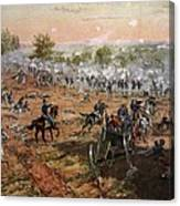 The Battle Of Gettysburg, July 1st-3rd Canvas Print