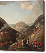 The Battle Of Glen Shiel 1719 Canvas Print