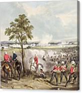 The Battle Of Goojerat On 21st February Canvas Print