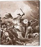 The Battle Of Hastings, Engraved Canvas Print