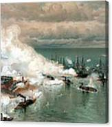 The Battle Of Mobile Bay Canvas Print