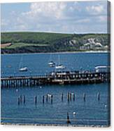 The Bay At Swanage Canvas Print