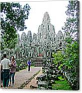 The Bayon In Angkor Thom In Angkor Wat Archeological Park-cambodia Canvas Print