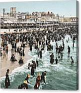 The Beach At Atlantic City 1902 Canvas Print