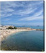 The Beach At Cap D' Antibes Canvas Print