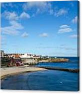 The Beach At Cullercoats Canvas Print