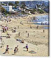 The Beach At Laguna Canvas Print