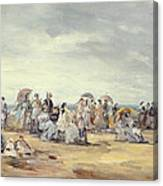 The Beach At Trouville, 1873 Canvas Print