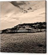 The Beach In Sepia Canvas Print