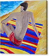 The Beach Towel Canvas Print