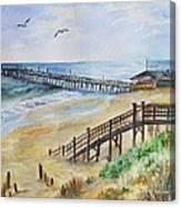 Nags Head Fishing Pier Canvas Print