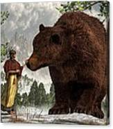 The Bear Woman Canvas Print