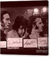 The Beatles In Old Photo Process At Fudruckers Canvas Print