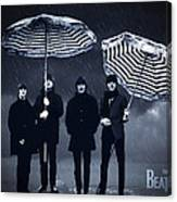 The Beatles in the rain Canvas Print